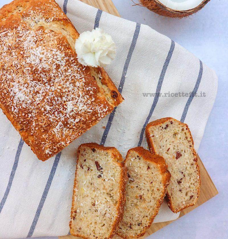 banana bread light senza uova zucchero lattosio glutine con il cocco cioccolato ricettefit 2