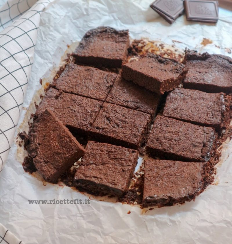 brownies banana cacao senza farina glutine latte burro zucchero olio uova light la vie est fit dukan