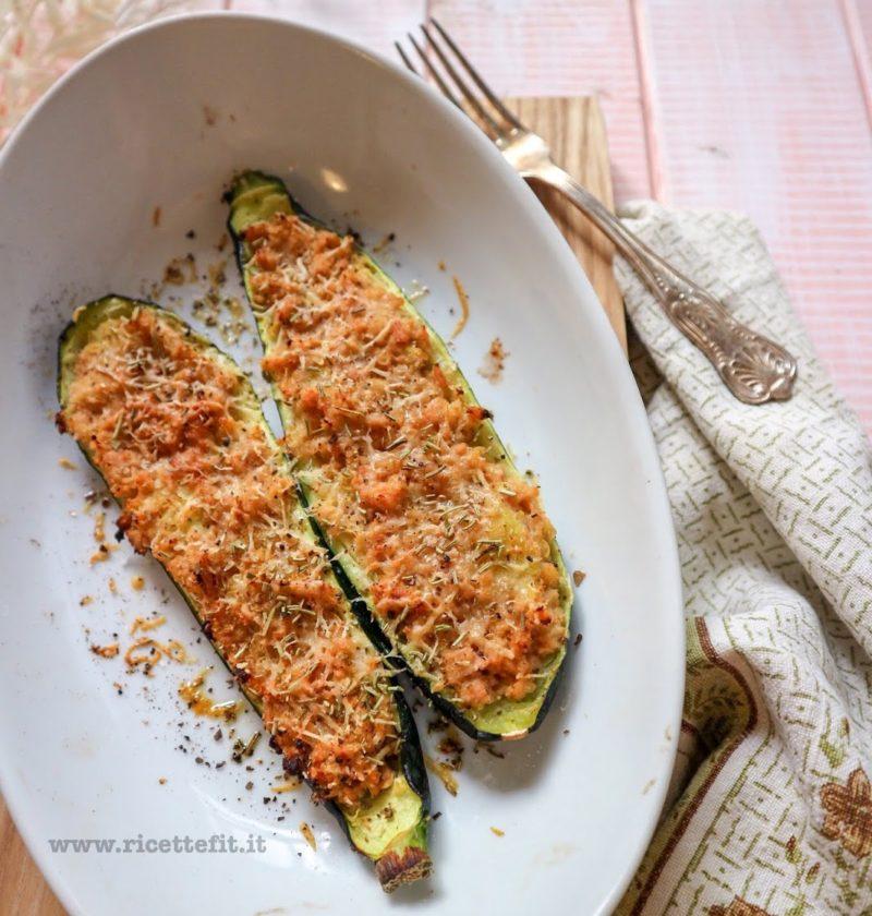 zucchine ripiene di tonno al naturale senza uova grassi glutine low carb (1)