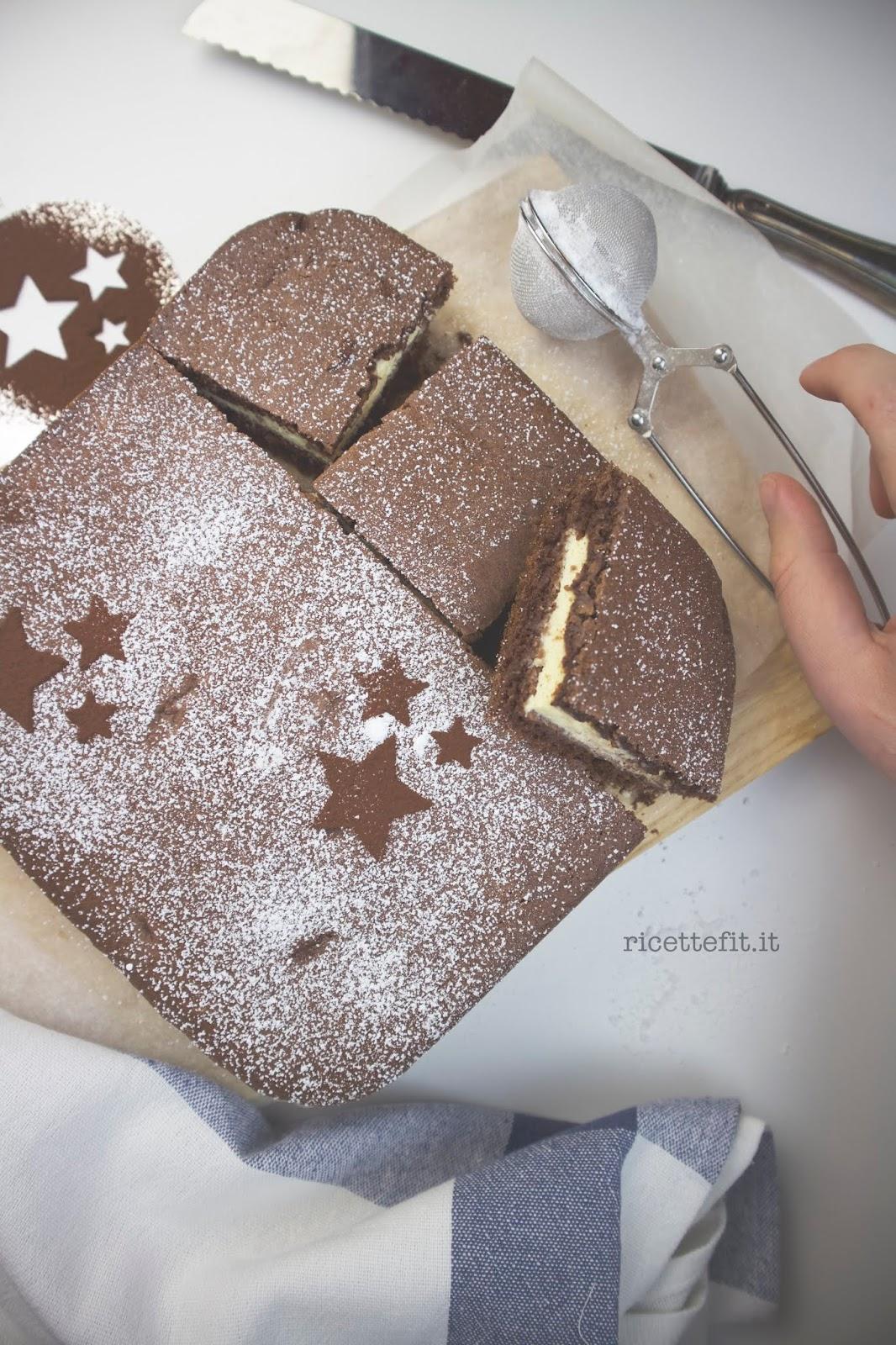 Torta versata al cacao e ricotta light e senza zucchero per la dieta di LA VIE EST FIT