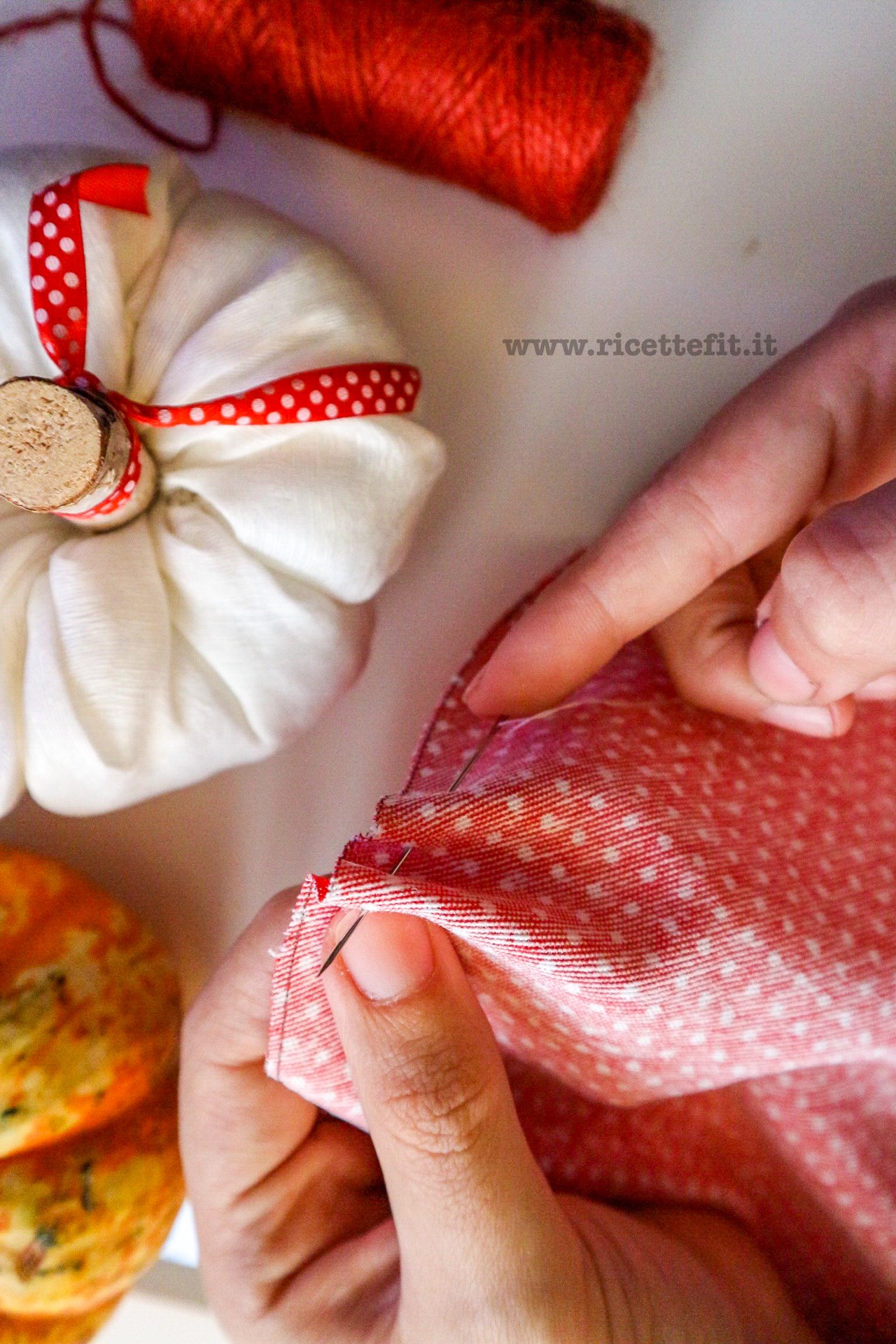 Tutorial zucche stoffa autunno Halloween fai fa te passo passo