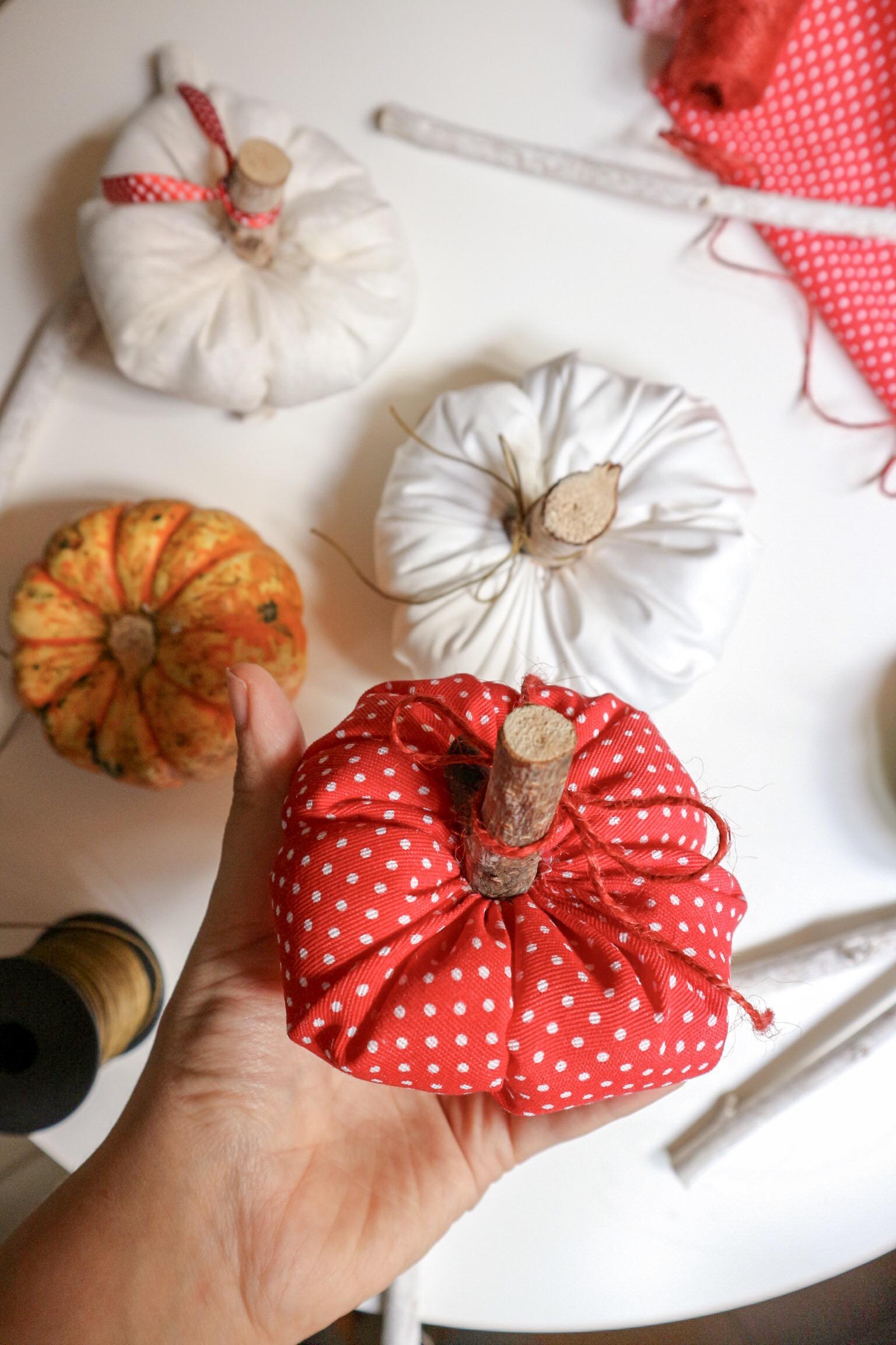 Tutorial zucche stoffa autunno Halloween fai fa te