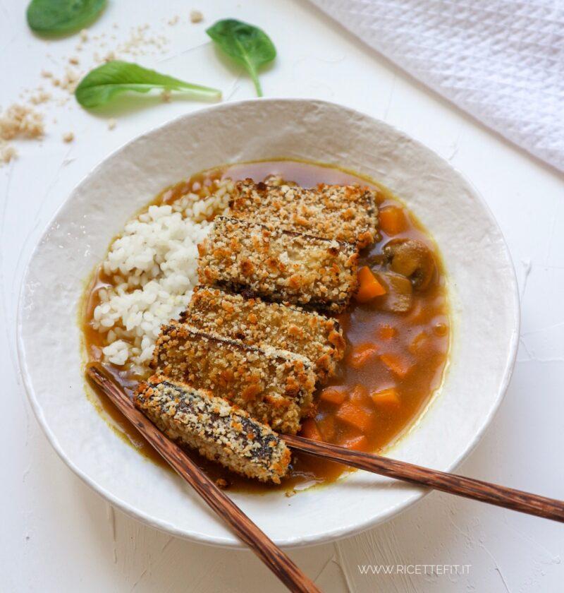 VEGAN KATSU tofu impanato con salsa al curry e riso light di LA VIE EST FIT